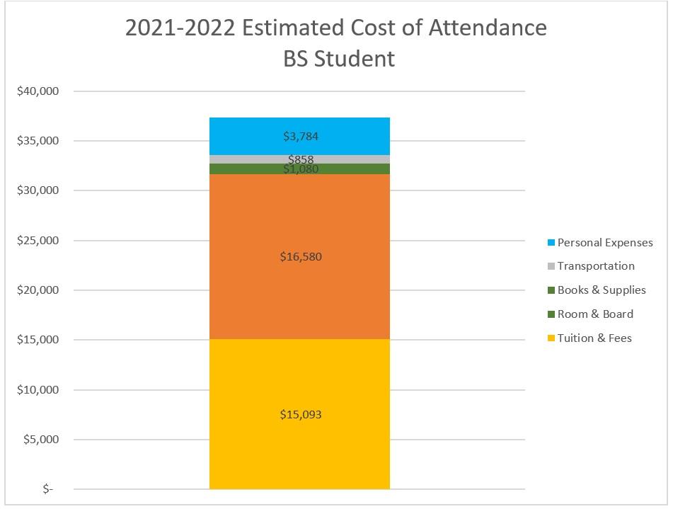 Chi phí dự kiến tham dự Sinh viên đại học toàn thời gian