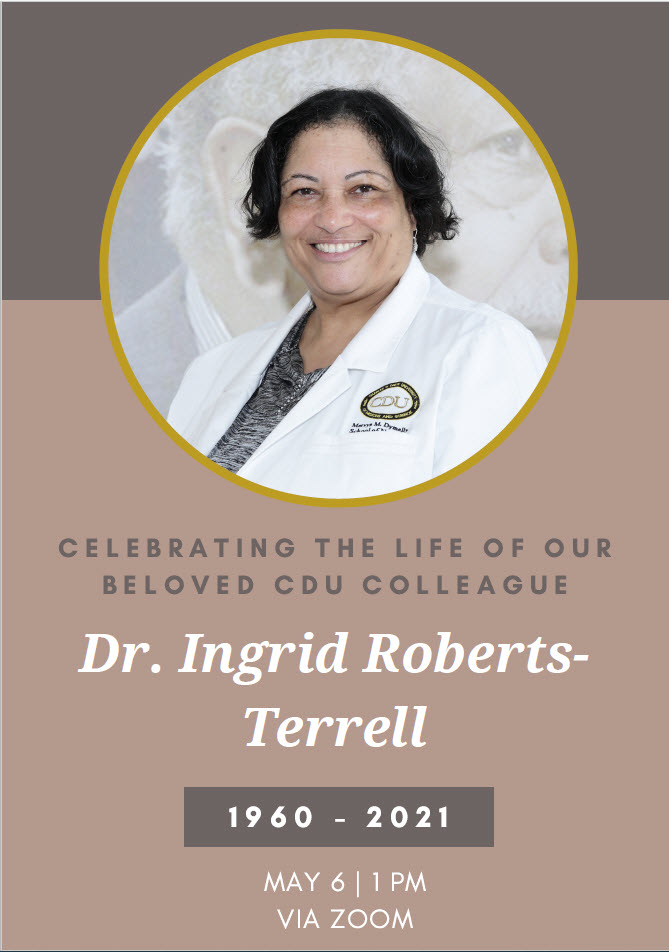Join Us as We Celebrate the Life of Dr. Ingrid Roberts-Terrell